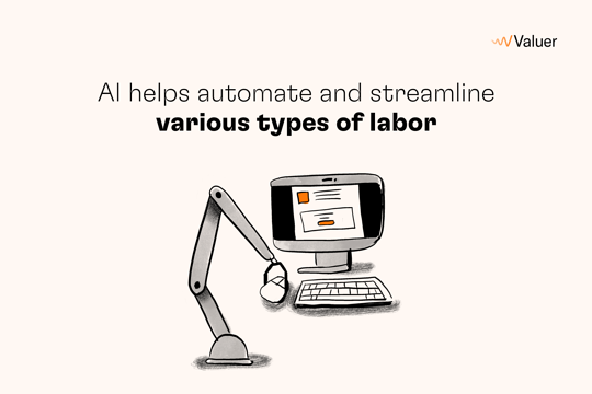 AI helps automate and streamline various types of labor.