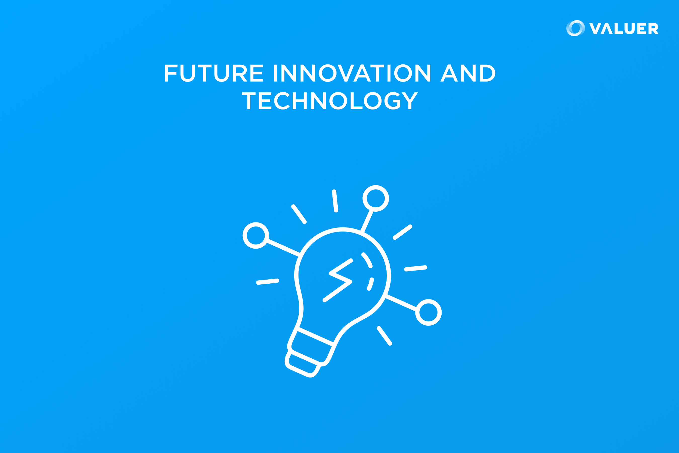 Future Innovation and Technology Data Protection with a lightbulb