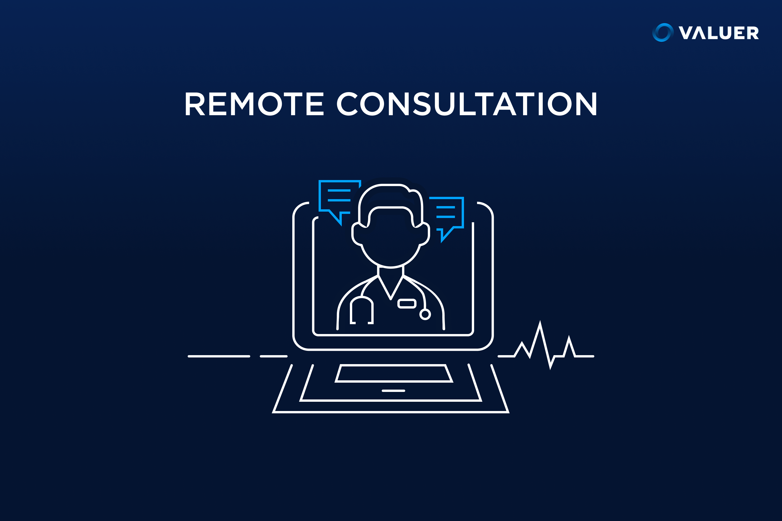 remote consultations with image of a doctor in a computer