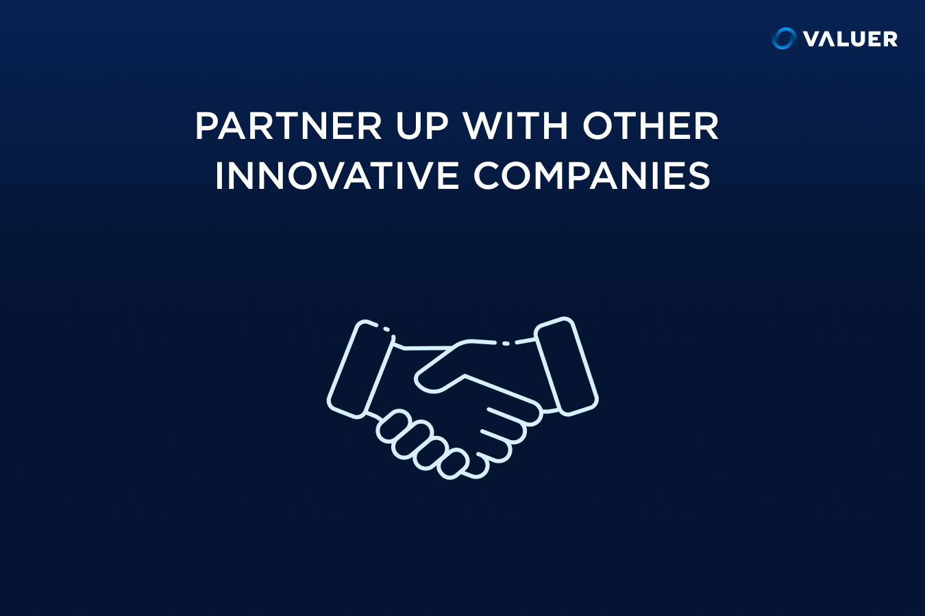 Partner up with Other Innovative Companies with an image of two hands shaking