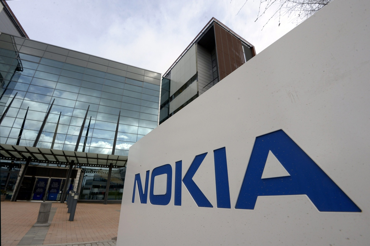 Exterior view of the head office of communication and information technology company Nokia on April 14, 2015, in Espoo, Finland. Finland's Nokia announced on April 14, 2015 that it was in advanced talks to purchase all of its Franco-American rival Alcatel-Lucent. AFP PHOTO / LEHTIKUVA / MARKKU ULANDER +++ FINLAND OUT