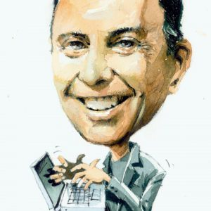 Jeff Bullas caricature on a white background
