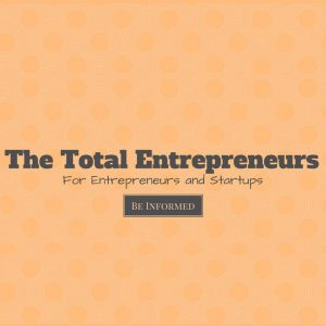 The total entrepreneurs text on orange background