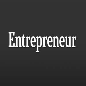 white text on a black background entrepreneur