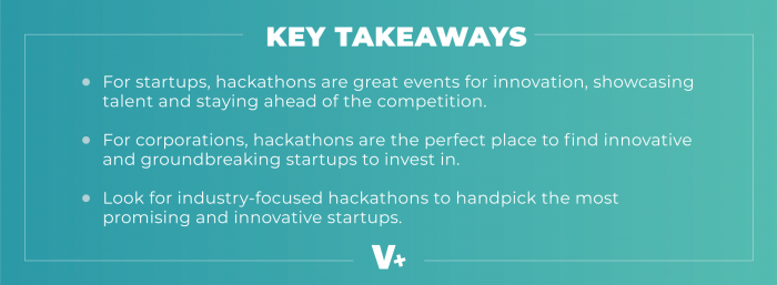 key takeaways for hackathons