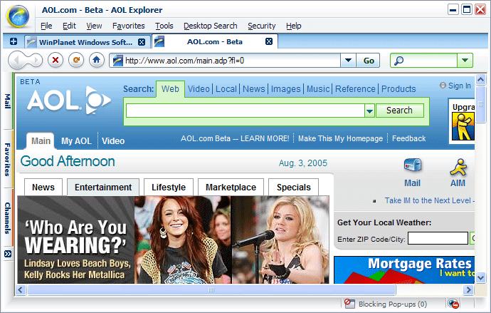 American online webpage