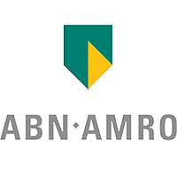 The logo for banking company abn amro
