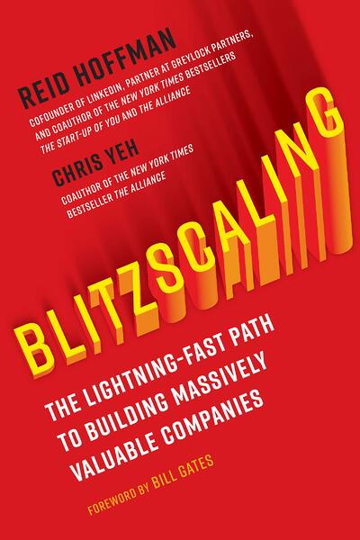 The book cover for Blitzscaling
