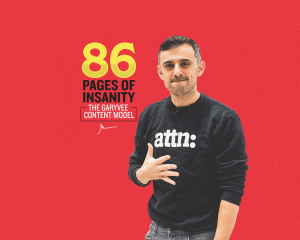 Gary Vee on a red background