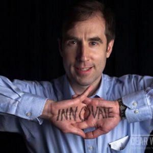 Braden Kelley photo innovate written on hands