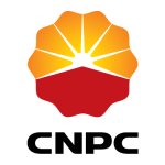 cnpc logo orange red and white with black text