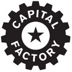 Capital Factory black gear logo star
