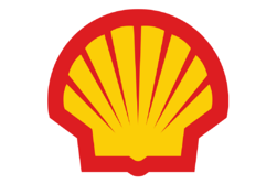 shell logo yellow with red white background