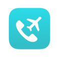 white phone with a white plane on a turquoise background
