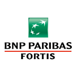 fortis logo green square with white birds shape black text and red line