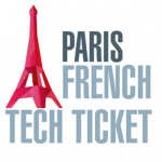 pink Eiffel tower text paris french ticket white background