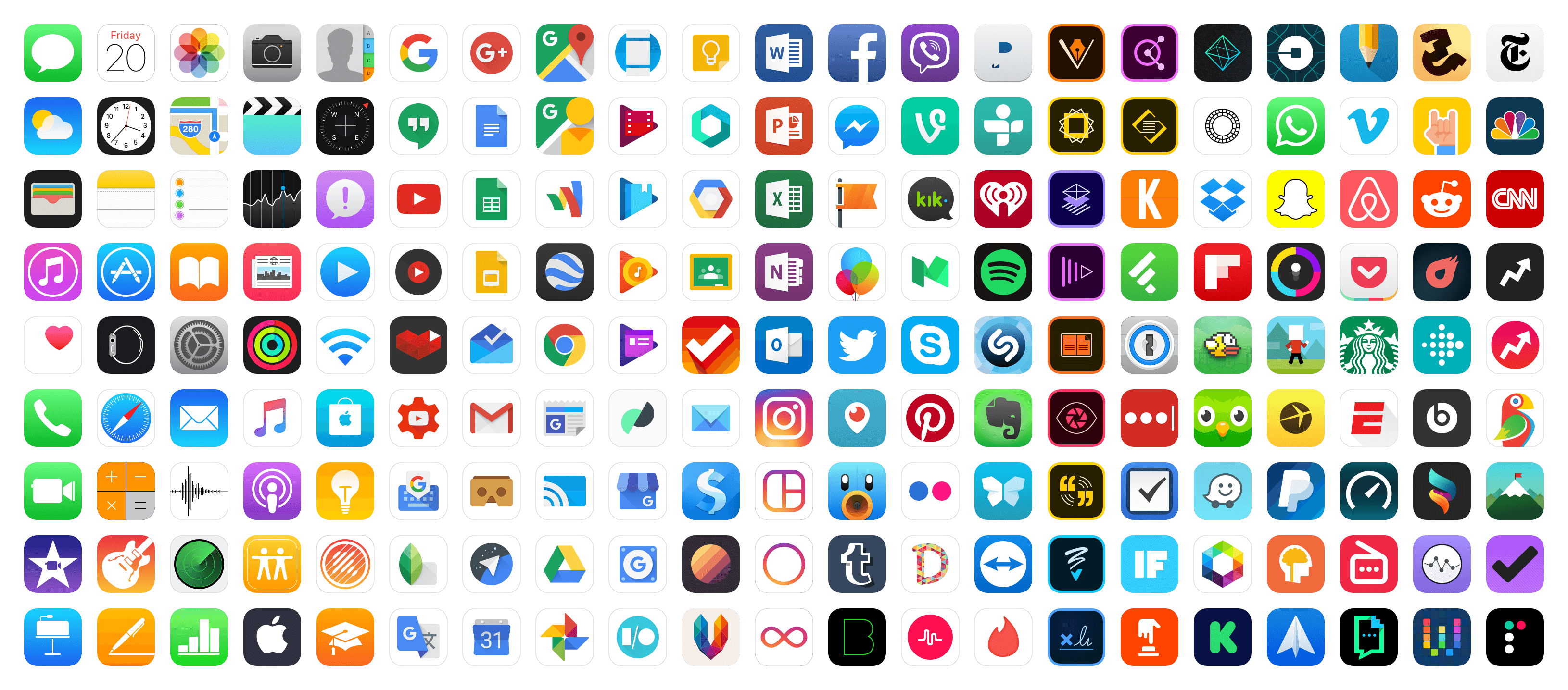 image of multiple iphone applications