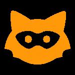 orange jodel logo on grey background