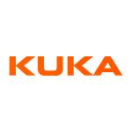 kuka logo orange text with white background