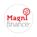 Magnifinance logo circle globe