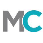 grey letter m and blue letter c mass challenge logo white background