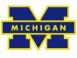 michigan university blue yellow logo
