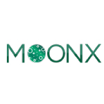 moonx logo green with white background