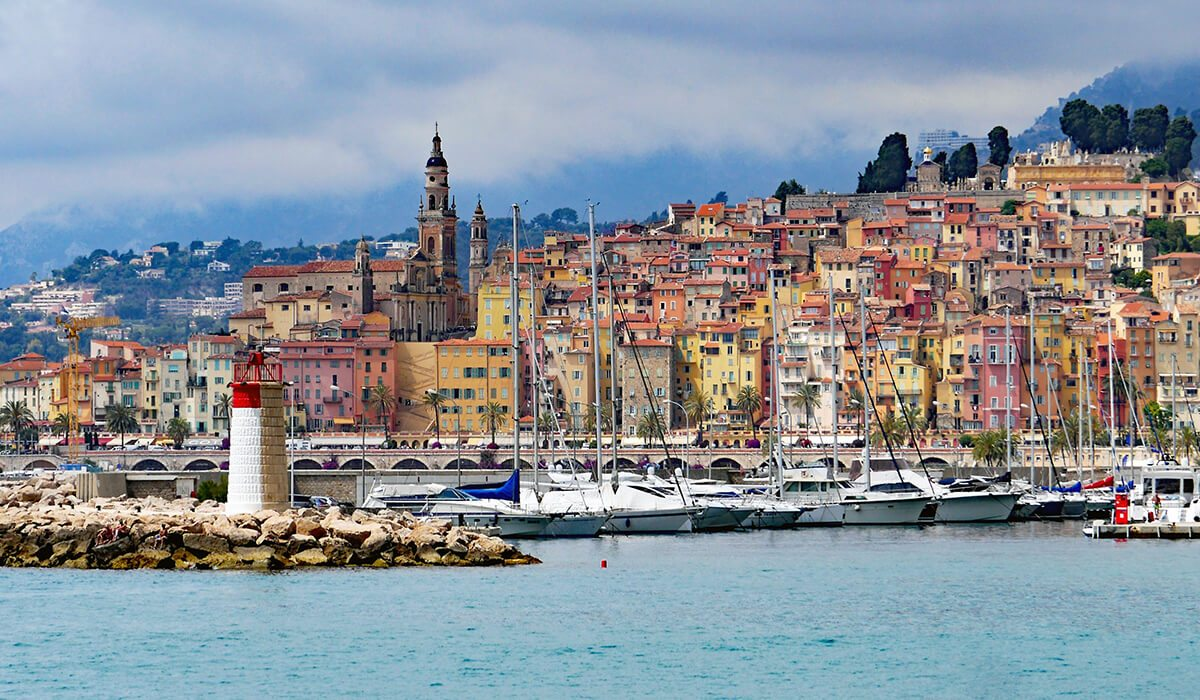 Nice, France city with sea