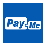Pay-me logo blue background