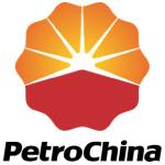 petrochina logo red and orange shapes, black text