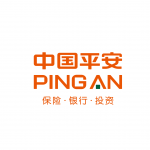 pingan logo orange text and chinese charapters