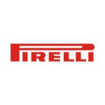 pirelli logo red text with white background