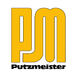 putzmeister yellow with black text