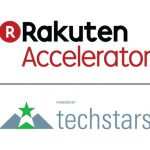 rakuten accelerator r red circle green star triangle techstars white background