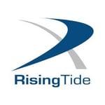 Rising tide logo blue grey logo