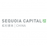 sequoia capital logo green shape, grey text, chinese chapters
