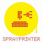 spray printer yellow logo