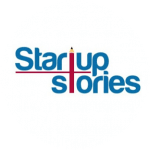 Startup Stories blue pencil logo