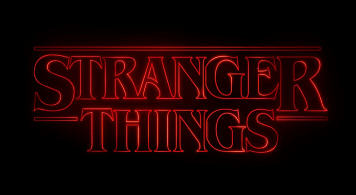 The logo of tv-drama, stranger things
