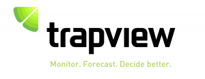 trapview logo white background and black and bright green text