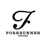 Forerunner logo, black capital letters, large F letter above