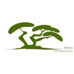 logo in green capital letters, large sign of a tree in green colour