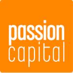 logo, white letters, orange background