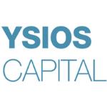 Ysios Capital logo, dark blue capitals, white background