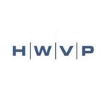 HWVP logo, capital blue letters