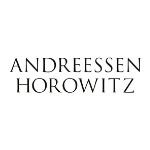Andressen Horowitz logo, black capital letters