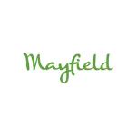Mayfield logo, green letters