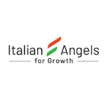 Italian Angels logo in black letter, in between the names, there is an italian flag in the middle