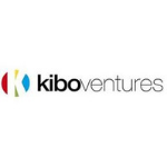 Kibo Ventures logo, black letters, on the left side a colourful circles, where is red, blue, green and yellow, and inside there is black capital K