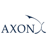 logo, capital letters in dark blue colour, on the right side from the name big blue X